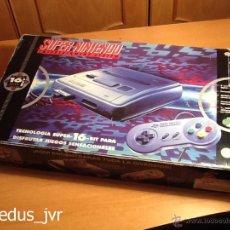 Videojuegos y Consolas: CONSOLA SUPER NINTENDO SNES PAL COMPLETA CON CAJA EMBALAJE ORIGINAL FUNCIONANDO REGULAR. Lote 69575649