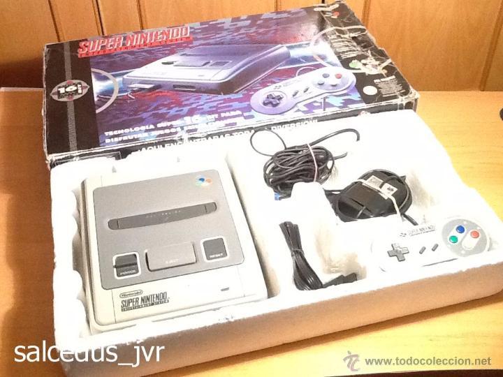Videojuegos y Consolas: Consola Super Nintendo SNES PAL Completa con Caja Embalaje Original Funcionando Regular - Foto 2 - 163379714