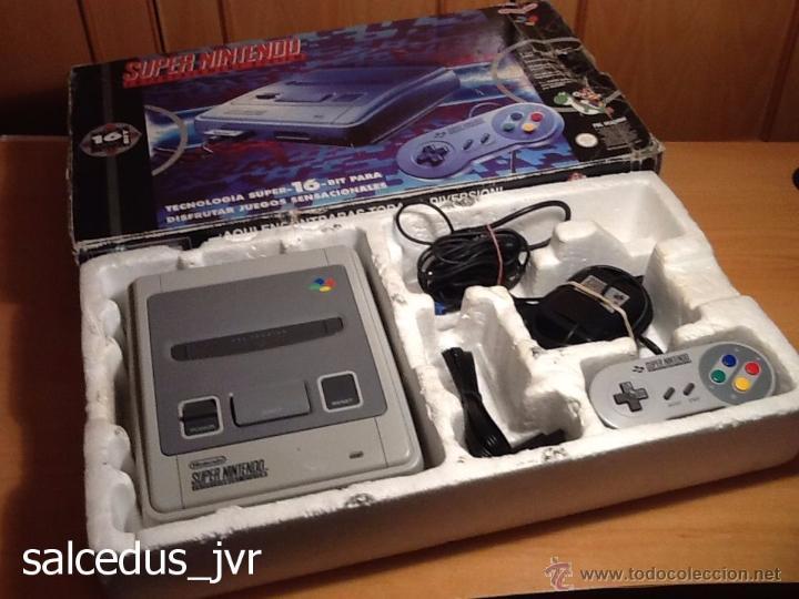 Videojuegos y Consolas: Consola Super Nintendo SNES PAL Completa con Caja Embalaje Original Funcionando Regular - Foto 3 - 163379714