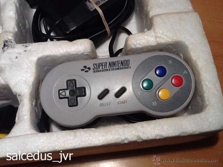 Videojuegos y Consolas: Consola Super Nintendo SNES PAL Completa con Caja Embalaje Original Funcionando Regular - Foto 6 - 163379714