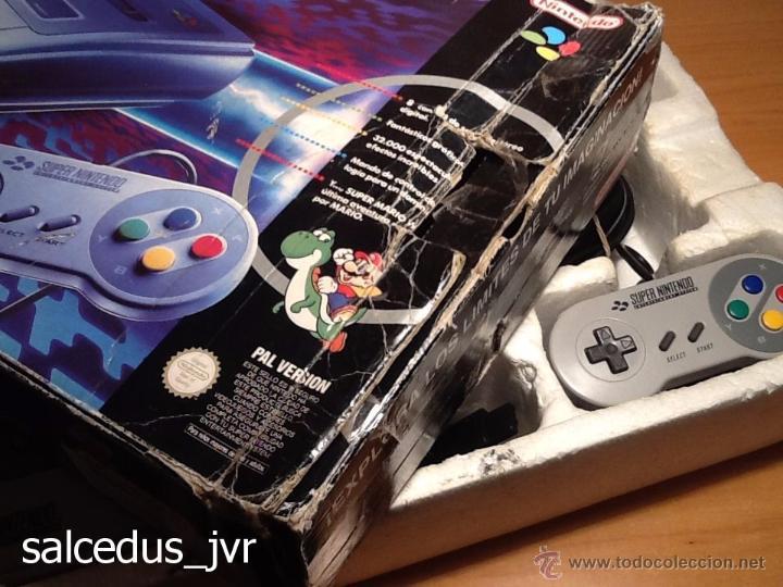 Videojuegos y Consolas: Consola Super Nintendo SNES PAL Completa con Caja Embalaje Original Funcionando Regular - Foto 10 - 163379714