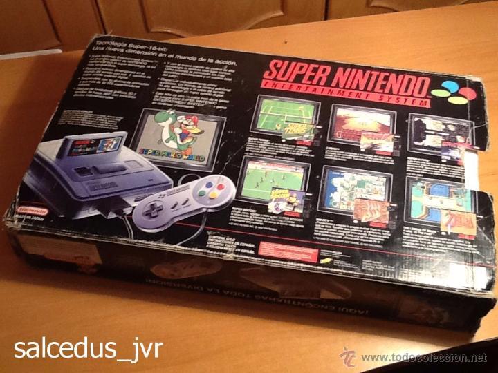 Videojuegos y Consolas: Consola Super Nintendo SNES PAL Completa con Caja Embalaje Original Funcionando Regular - Foto 14 - 163379714