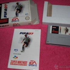 Videojuegos y Consolas: SUPER NINTENDO SNES FIFA 97 COMPLETO VERSIÓN PAL EUR.. Lote 52278534