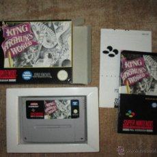 Videojuegos y Consolas: SUPER NINTENDO SNES ~ KING ARTHUR'S WORLD ~ PAL / ESPAÑA. Lote 52476928