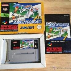 Videojuegos y Consolas: JUEGO RABBIT RAMPAGE / SUPER NINTENDO SNES / VERSION PAL. Lote 53424952