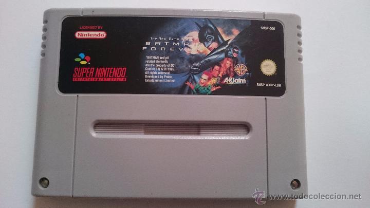 JUEGO BATMAN FOREVER SNES SUPER NINTENDO SOLO CARTUCHO PAL EUR (Juguetes - Videojuegos y Consolas - Nintendo - SuperNintendo)