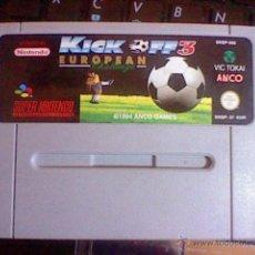 Videojuegos y Consolas: CARTUCHO SNES JAPAN NINTENDO SUPERNINTENDO KICK OFF 3 EUROPEAN SNSP 37 EUR PAL . Lote 54248117