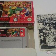 Videojuegos y Consolas: JUEGO TRODDLERS COMPLETO SUPER NINTENDO SNES PAL.VERSION ESPAÑOLA.. Lote 54335367