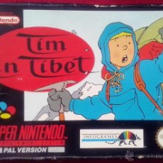 Videojuegos y Consolas: TIM IN TIBET - VIDEO JUEGO SUPER NINTENDO - PAL - INSTRUCCIONES EN ESPAÑOL - SUPERNINTENDO. Lote 54370384