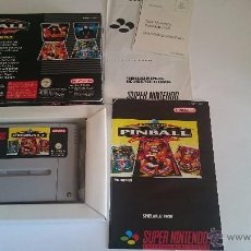 Videojuegos y Consolas: JUEGO COMPLETO SUPER PINBALL SUPER NINTENDO SNES COMO NUEVO. PAL. Lote 55018758