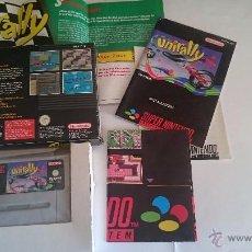 Videojuegos y Consolas: JUEGO COMPLETO UNIRALLY SUPER NINTENDO SNES COMO NUEVO. PAL. Lote 55018815