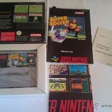 Videojuegos y Consolas: JUEGO COMPLETO SUPER SOCCER SUPER NINTENDO SNES COMO NUEVO. PAL. Lote 55018974