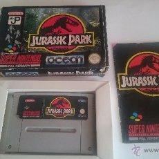 Videojuegos y Consolas: JUEGO JURASSIC PARK COMPLETO SUPER NINTENDO SNES PAL.VERSION ESPAÑA.PAL.ESP. Lote 55044558