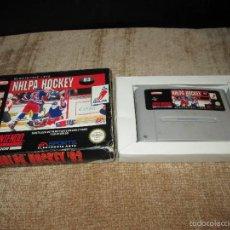 Videojuegos y Consolas: SUPER NINTENDO SNES ~ NHLPA HOCKEY 93 ~ PAL / ESPAÑA. Lote 56199459
