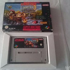 Videojuegos y Consolas: DONKEY KONG COUNTRY 3 DIXIE KONG´S DOUBLE TROUBLE SUPER NINTENDO SNES PAL NOE SNES. Lote 56552336