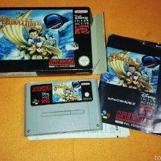 Videojuegos y Consolas: PINOCCHIO PARA SUPER NINTENDO SNES COMPLETO. Lote 56661489