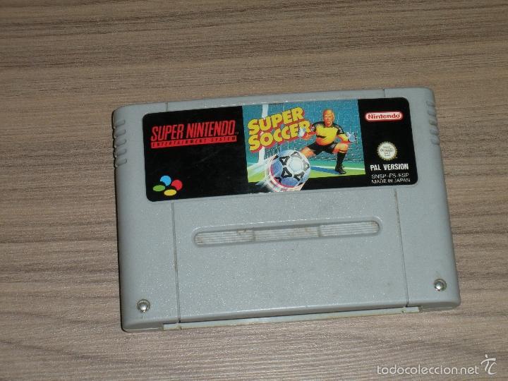 SUPER SOCCER JUEGO SUPER NINTENDO SNES PAL ESPAÑA (Juguetes - Videojuegos y Consolas - Nintendo - SuperNintendo)