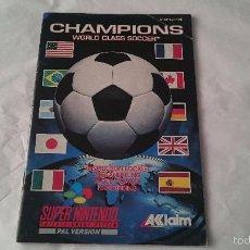 Videojuegos y Consolas: MANUAL INSTRUCCIONES SPIELANLEITUNG BOOKLET CHAMPIONS SUPER NINTENDO SNES PAL. Lote 57193137
