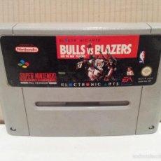 Videojuegos y Consolas: JUEGO SUPERNINTENDO BULLS VS BLAZERS PAL VERSION VER FOTOS. Lote 57846645