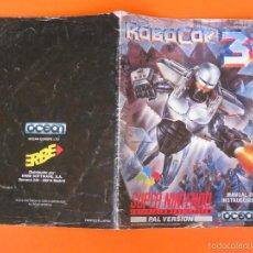 Videojuegos y Consolas: SUPERNINTENDO SNES MANUAL INSTRUCCIONES ROBOCOP 3. Lote 59869644