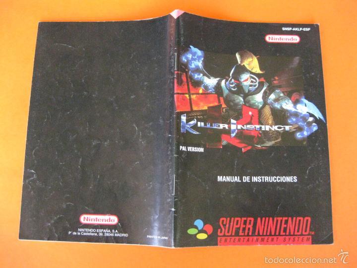 supernintendo snes manual instrucciones killer comprar videojuegos rh todocoleccion net killer instinct snes guide killer instinct snes guide pdf