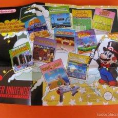 Jeux Vidéo et Consoles: SUPERNINTENDO SNES POSTER. Lote 59873488