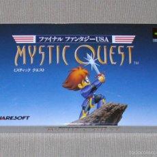 Videojuegos y Consolas: FINAL FANTASY USA: MYSTIC QUEST, EN PERFECTO ESTADO NTSC JAP -SNES-. Lote 59942463