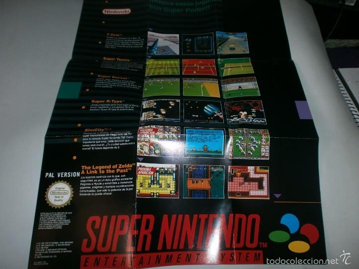 POSTER DE VIDEOJUEGOS DE SUPER NINTENDO SNES (Juguetes - Videojuegos y Consolas - Nintendo - SuperNintendo)