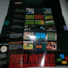 Videojuegos y Consolas: POSTER DE VIDEOJUEGOS DE SUPER NINTENDO SNES . Lote 60368387