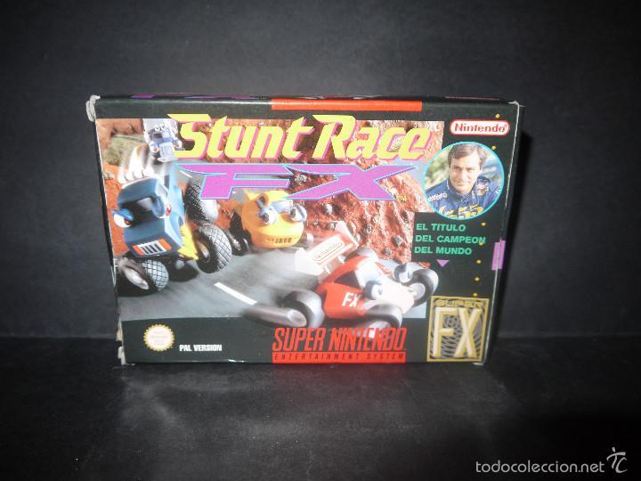 STUNT RACE, SUPER NINTENDO, PAL VERSION, COMPLETO. (Juguetes - Videojuegos y Consolas - Nintendo - SuperNintendo)