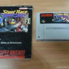 Videojuegos y Consolas: STUNT RACE FX - CON MANUAL - SUPER NINTENDO SNES - PAL ESP. Lote 61353722