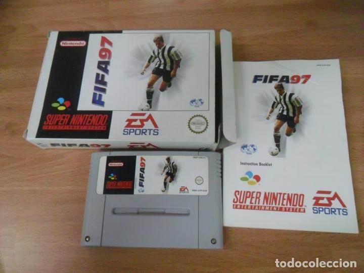 FIFA 97 - SUPER NINTENDO SNES - COMPLETO - PAL ESPAÑA (Juguetes - Videojuegos y Consolas - Nintendo - SuperNintendo)