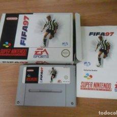 Videojuegos y Consolas: FIFA 97 - SUPER NINTENDO SNES - COMPLETO - PAL ESPAÑA. Lote 61894064