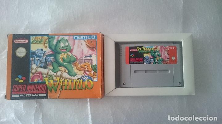 Caja Y Juego Whirlo Super Nintendo Snes Pal Esp Comprar