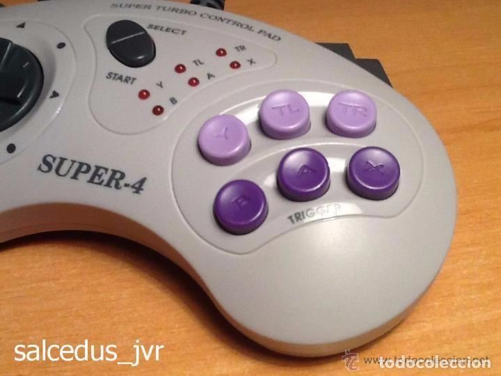 Videojuegos y Consolas: Mando Controlador Super-4 Turbo Control Pad para Super Nintendo SNES Joystick - Foto 2 - 66885870