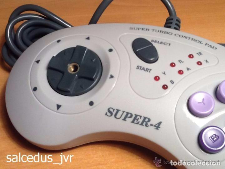 Videojuegos y Consolas: Mando Controlador Super-4 Turbo Control Pad para Super Nintendo SNES Joystick - Foto 3 - 66885870