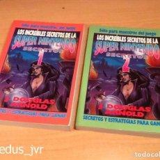 Videojuegos y Consolas: LOTE LIBROS LOS INCREÍBLES SECRETOS DE LA SUPER NINTENDO 1 + 2 MARIO WORLD ZELDA TRUCOS SNES NUEVOS. Lote 194978717