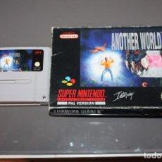 Videojuegos y Consolas: ANOTHER WORLD CON CAJA PARA SUPER NINTENDO SNES. Lote 72346487