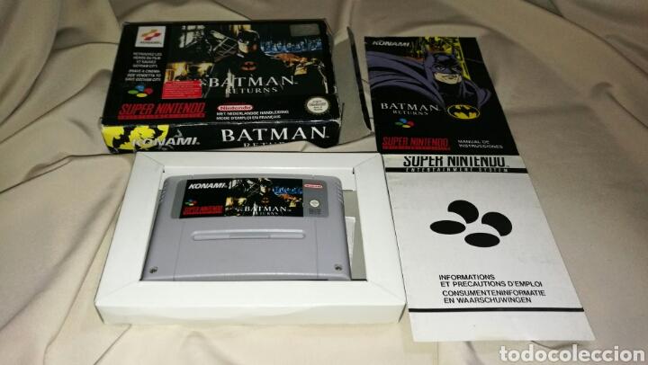 BATMAN RETURNS PARA SUPER NINTENDO SNES CON CAJA . ORIGINAL KONAMI (Juguetes - Videojuegos y Consolas - Nintendo - SuperNintendo)