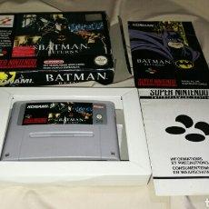 Videojuegos y Consolas: BATMAN RETURNS PARA SUPER NINTENDO SNES CON CAJA . ORIGINAL KONAMI . Lote 76090850