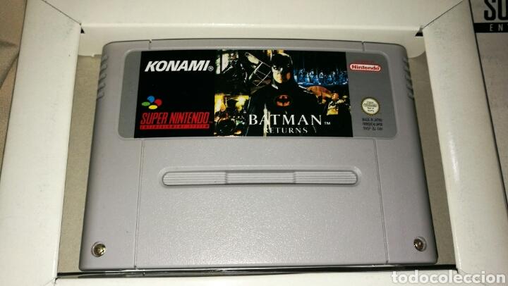 Videojuegos y Consolas: Batman returns para super Nintendo snes con caja . Original konami - Foto 4 - 76090850