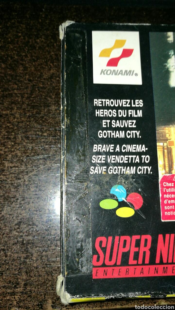 Videojuegos y Consolas: Batman returns para super Nintendo snes con caja . Original konami - Foto 7 - 76090850