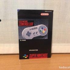 Videojuegos y Consolas: MANUAL MANDO PAD SUPER NINTENDO (SNES) PAL NOE. Lote 163865216