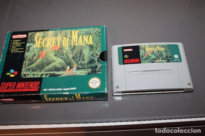 SECRET OF MANA CON CAJA PARA SUPER NINTENDO SNES FUNCIONANDO PAL (Juguetes - Videojuegos y Consolas - Nintendo - SuperNintendo)