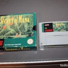 Videojuegos y Consolas: SECRET OF MANA CON CAJA PARA SUPER NINTENDO SNES FUNCIONANDO PAL. Lote 81146832