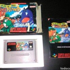 Videojuegos y Consolas: SUPER MARIO WORLD 2 YOSHI'S ISLAND SUPER NINTENDO SNES. COMPLETO Y FUNCIONANDO. Lote 83150576