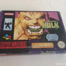 Videojuegos y Consolas: THE INCREDIBLE HULK PAL SUPERNINTENDO SUPER NINTENDO. Lote 83479208