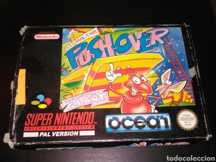 PUSH OVER SUPER NINTENDO (Juguetes - Videojuegos y Consolas - Nintendo - SuperNintendo)