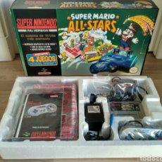 Videojuegos y Consolas: CONSOLA SUPER NINTENDO SNES SUPER MARIO STARS PACK COMPLETA. Lote 89480764