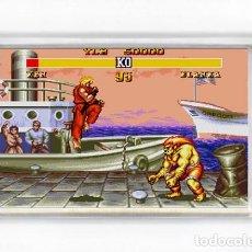 Videojuegos y Consolas: IMAN ACRILICO NEVERA - VIDEOJUEGOS STREET FIGHTER II KEN CONTRA BLANKA. Lote 91218435
